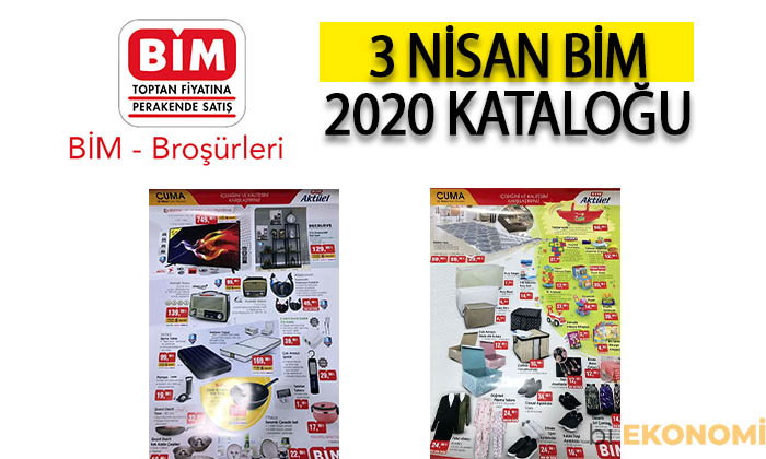 BİM 3 Nisan 2020 Aktüel Ürünler Kataloğu