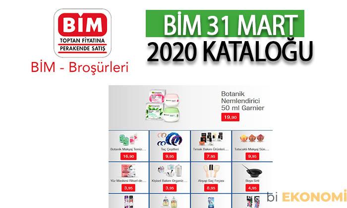 BİM 31 Mart 2020 Aktüel Ürünler Kataloğu