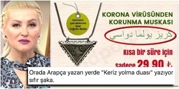 Koronavirüsten Korunma Muskası Reklamının Arapça Yazısında 'Keriz Yolma Duası' Yazdığı Bakın Nasıl Ortaya Çıktı