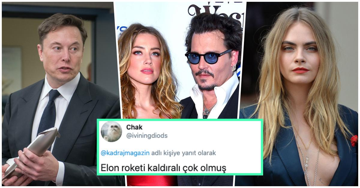 Ortalık Karıştı! Johnny Depp'in Olaylı Ayrıldığı Eski Eşi Amber Heard, Elon Musk ve Cara Delevingne ile Üçlü İlişki Yaşarken Yakalandı