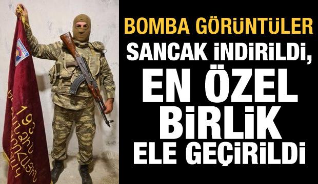 Azerbaycan Ordusu sancağı indirdi! Ermenistan'ın en özel birliği ele geçirildi