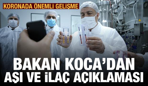 Bakan Koca'dan yerli koronavirüs aşısı ve ilacı ile ilgili önemli açıklama