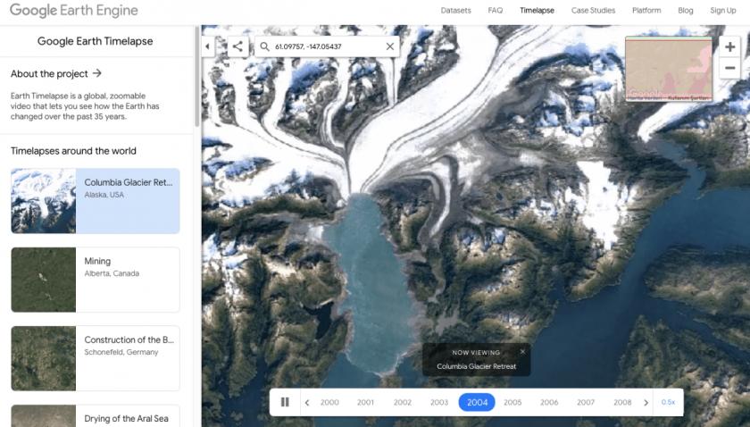 Google'dan iklim krizi için farkındalık yaratan proje: Google Earth Timelapse