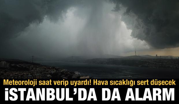 Meteoroloji saat verip uyardı! Hava sıcaklığı sert düşecek, İstanbul'da da alarm