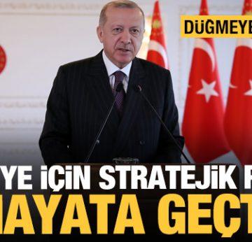 Türkiye için stratejik proje hayata geçti! Erdoğan'dan önemli açıklamalar