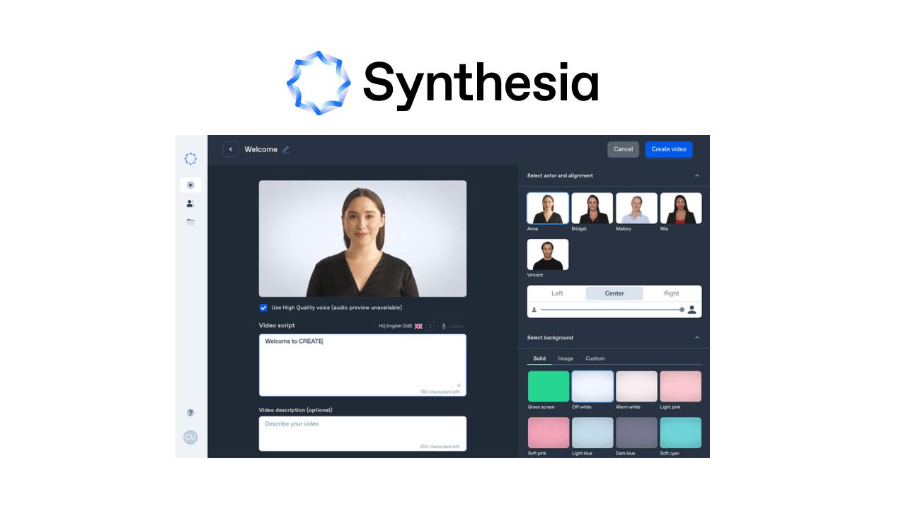 Yapay zeka destekli Synthesia; sanal insanlar ile sentetik içerikler üretmenizi sağlıyor