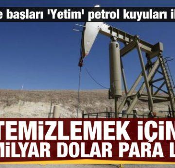 'Yetim' petrol kuyularını temizlemek 280 milyar dolara mal olacak