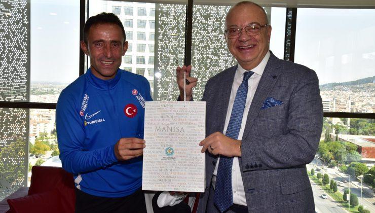 Ampute Milli Futbol Takımından Başkan Ergüne ziyaret