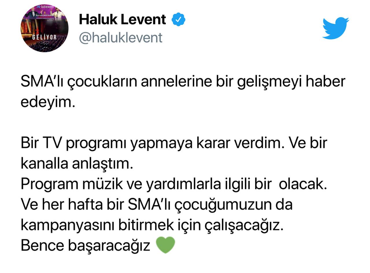 Haluk Levent'in Tweet'i