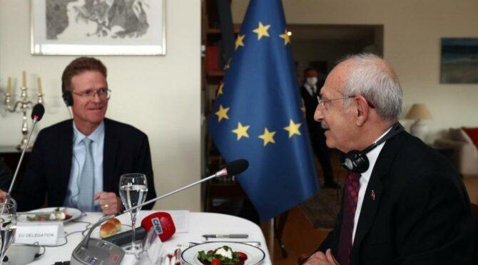 Kılıçdaroğlu, AB Türkiye Delegasyonu Başkanı Landrut ile bir araya geldi