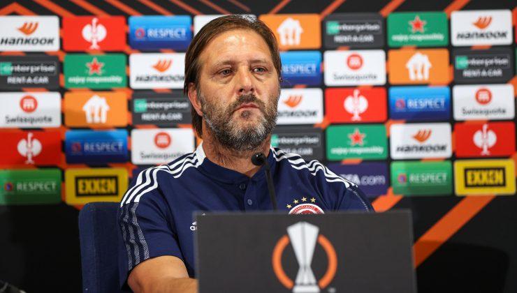 Olympiakosta Pedro Martinsten Fenerbahçe maçının önemine vurgu