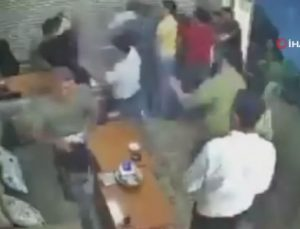 Şırnak'ta yemeği beğenmedik kavgası kamerada