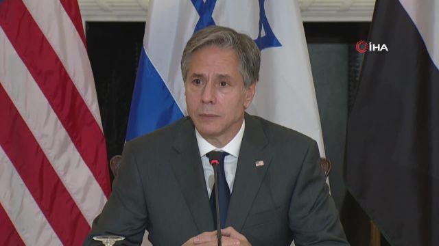 """– ABD Dışişleri Bakanı Blinken'dan Filistin-İsrail meselesinde """"iki devletli çözüm"""" vurgusu – """"İran ile diplomasi ilerlemezse ABD diğer seçeneklere yönelecek"""""""