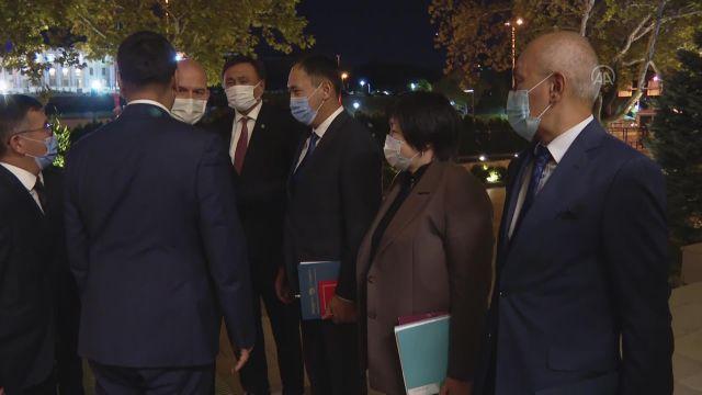 ANKARA – Bakan Soylu, Kırgızistan Acil Durumlar Bakanı Azikeev ile görüştü