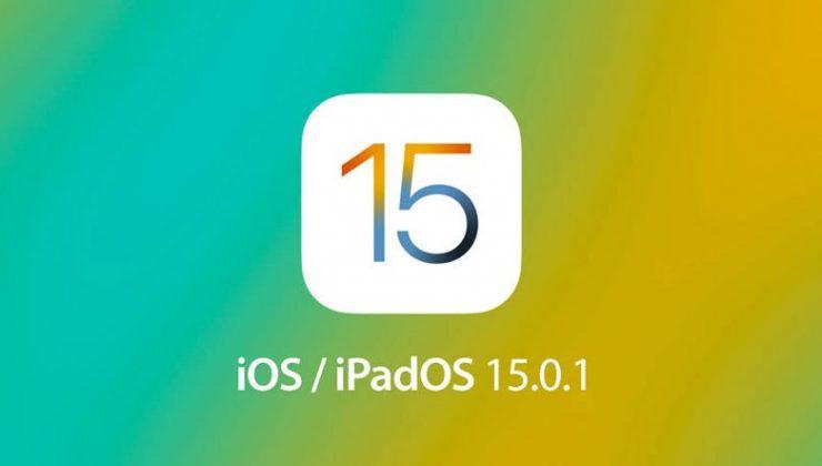 Apple'dan Beklenen iOS 15.0.1 Güncellemesi Geldi