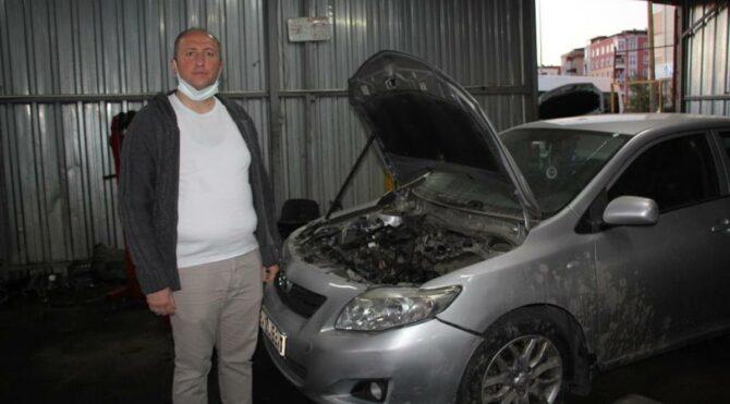 Arkadaş önerisiyle aracını temizletti, hayatının şokunu yaşadı