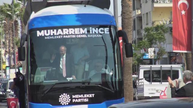 AYDIN – Memleket Partisi Genel Başkanı İnce, ziyaretlerde bulundu