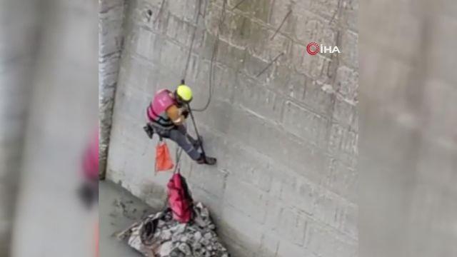 – Çoruh nehrine düşen kediyi AFAD ekipleri kurtardı