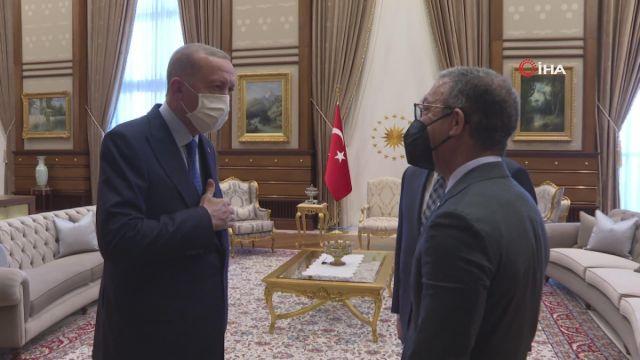 Cumhurbaşkanı Recep Tayyip Erdoğan, Cumhurbaşkanlığı Külliyesi'nde Parlamentolar Arası Birlik Başkanı Duarte Pacheco'yu kabul etti.
