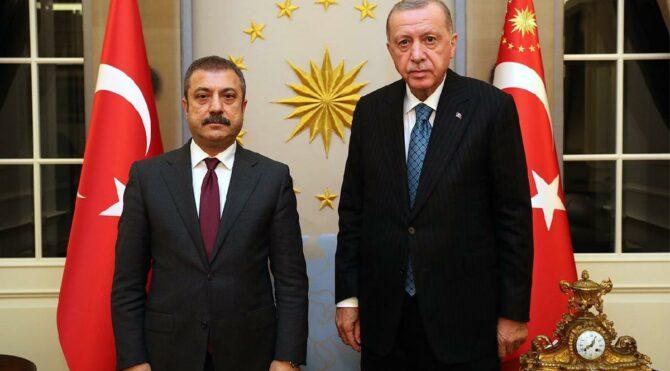 Erdoğan, Merkez Bankası Başkanı Kavcıoğlu ile görüştü