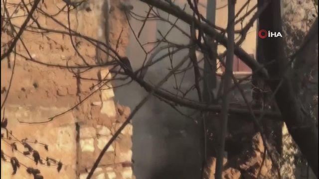 Kahramanmaraş'ta metruk ev yangını