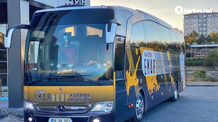 Kayseri Emar Grup Futbol Kulübü'nün takım otobüsü yenilendi