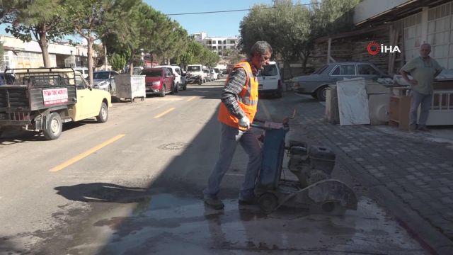 Kuşadası Belediyesi su baskınlarına karşı önlem almaya devam ediyor