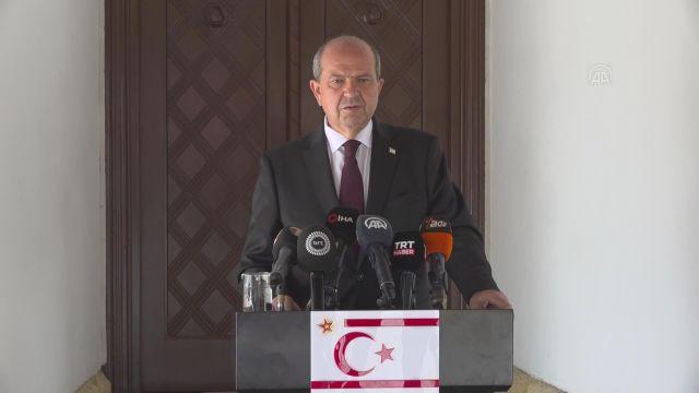 LEFKOŞA – KKTC Cumhurbaşkanı Tatar, Meclis Başkanı Sennaroğlu ve Başbakan Saner'i kabul etti