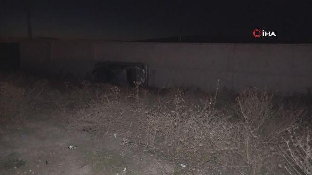 Takla atan otomobil metrelerce sürüklendi: Baba ve oğul ölümden döndü
