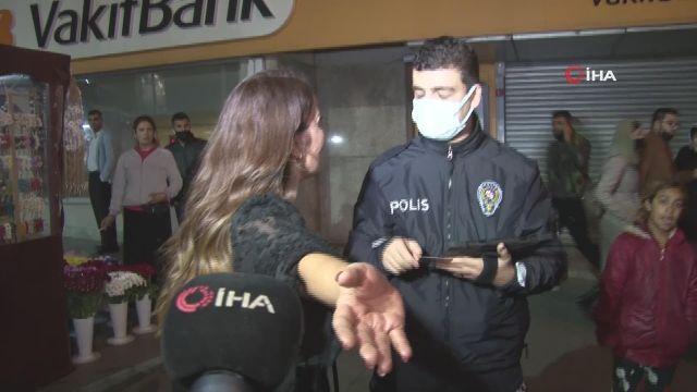 Taksim'deki polis uygulamasında vatandaştan taksiciye küfürlü tepki