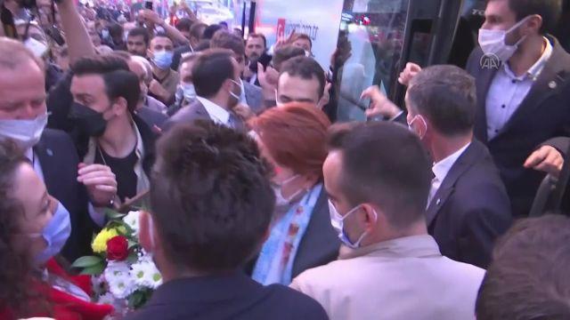TOKAT – İYİ Parti Genel Başkanı Akşener, esnafı ziyaret etti (2)