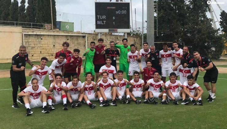 U17 Milli Futbol Takımı, Maltayı 6-1 yendi