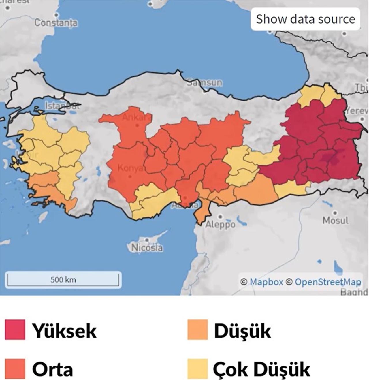 volkan risk haritası