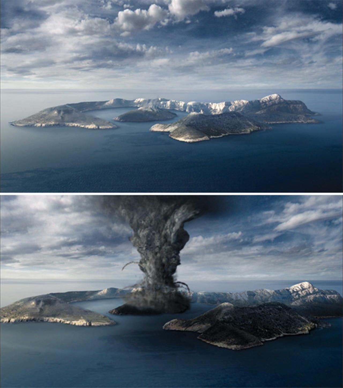santorini volkan